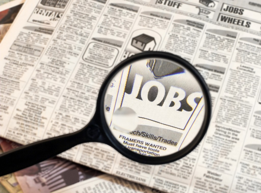job-search-newspaper header