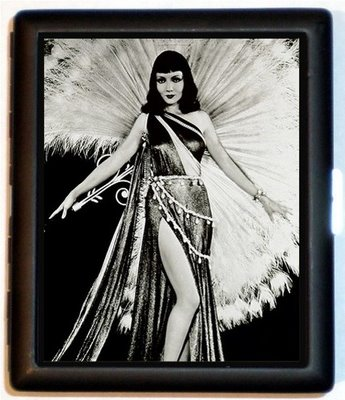Claudette Colbert as Cleopatra as peacock