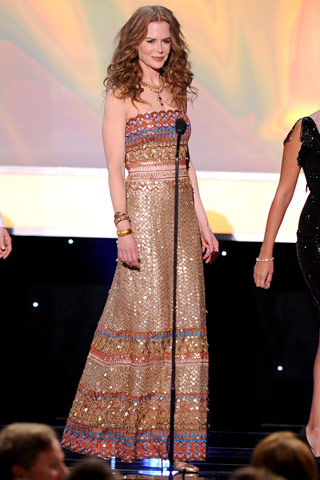 Nicole Kidman wearing Oscar de la Renta, SAG Awards 2010