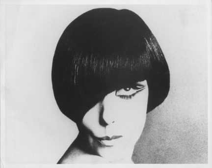 Peggy Moffitt with Vidal Sassoon haircut, 1960s