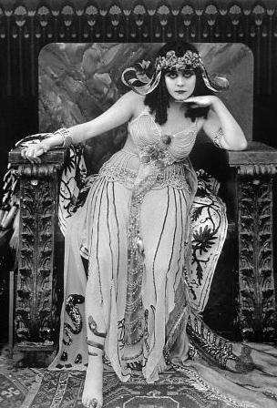 Theda Bara as Cleopatra, 1917
