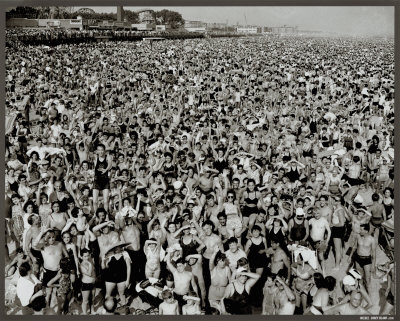 Coney Island by Weegee, 1938