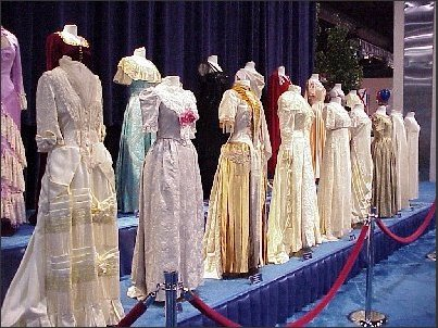 First Ladies inaugural gowns on display