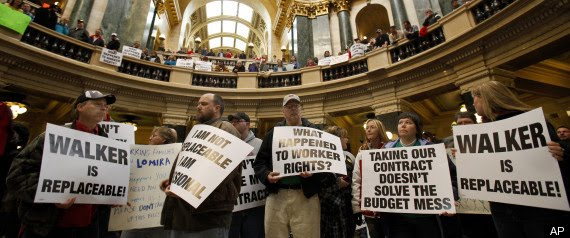 Wisconsin union rally, 2011