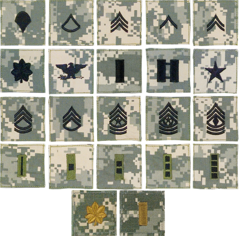 ACU Digital Camo Military Rank Insignia US Army Patch