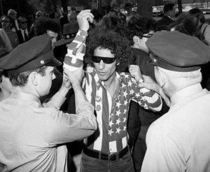 Abbie Hoffman arrested in flag shirt