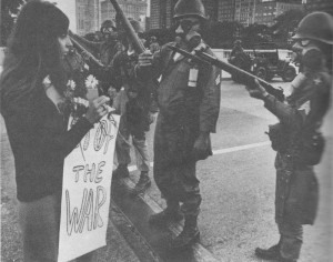 demonstration in Grant Park, Chicago, 8/68