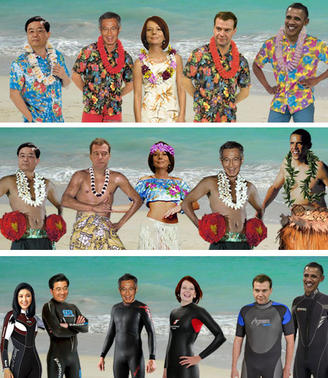 proposed APEC outfits in Hawaii, 2011