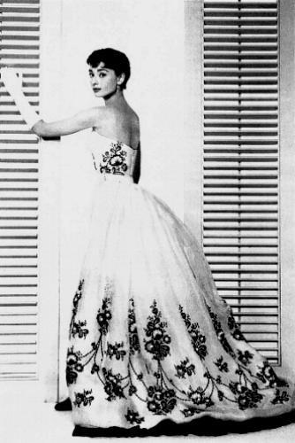 Audrey Hepburn in Givenchy dress, Sabrina