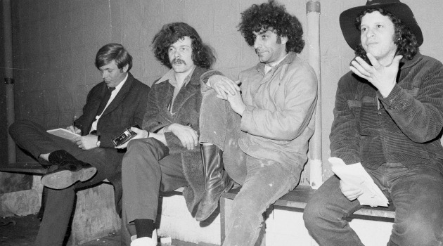 yippies Abbie Hoffman and Paul Krassner