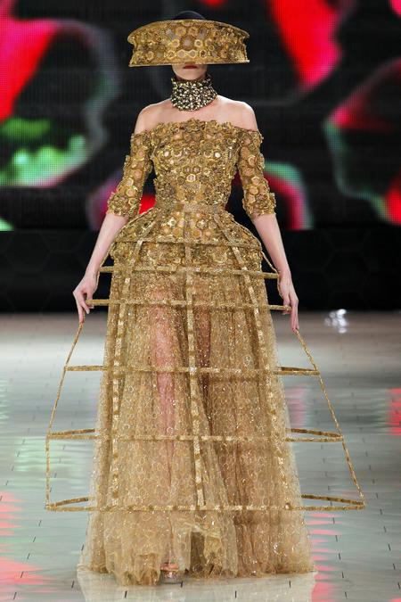 metallic hoop skirt, Alexander McQueen SS2013 RTW