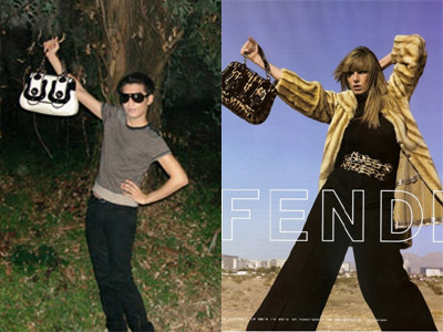 BryanBoy posing and Fendi ad, circa 2006