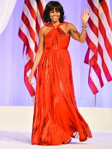 Michelle Obama wears Jason Wu, 2013 inaugural ball
